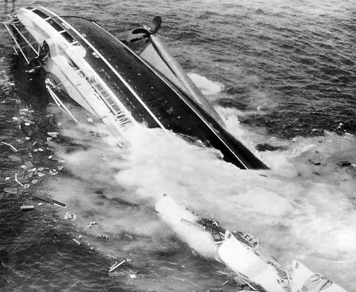 Năm 1956, con tàu hạng sang của Italy SS Andrea Doria va chạm với tàu MS Stockholm khi đang chở 1.700 hành khách. Các hành khách đã ngay lập tức được sơ tán sang tàu Stockholm và những tàu khác gần đó. Andrea Doria sau đó đã chìm xuống và vụ tai nạn này ghi nhận 46 người thiệt mạng./.