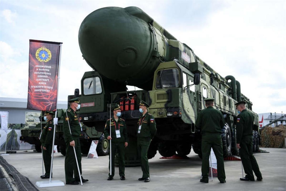 Hệ thống tên lửa đạn đạo liên lục địa Topol của Nga ngày 23/8/2020. Ảnh: AFP