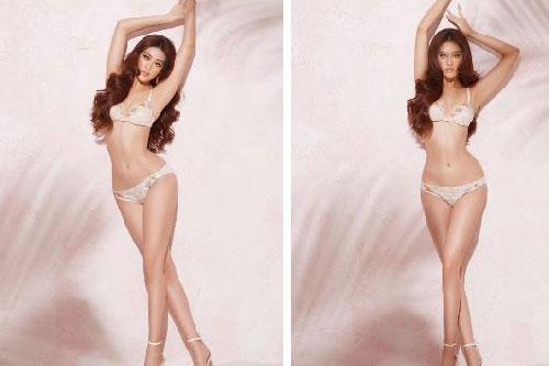 Khánh Vân quyến rũ trong bộ bikini, khoe trọn tỷ lệ thân hình hoàn mỹ khi chụp hình cho Miss Universe 2020