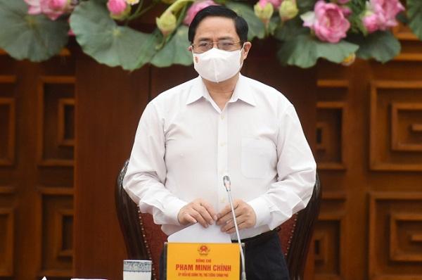 Thủ tướng Phạm Minh Chính phát biểu chỉ đạo tại cuộc họp.