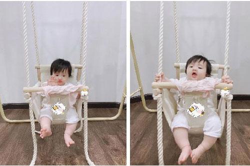 1001 biểu cảm thú vị của con gái Đông Nhi khi chơi xích đu khiến ai nhìn cũng yêu