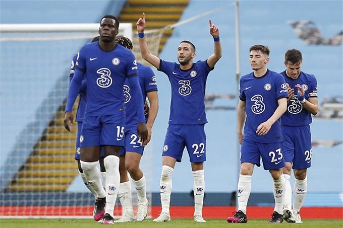 Ziyech đều ghi bàn ở 2 trận đấu đầu tiên gặp Man City