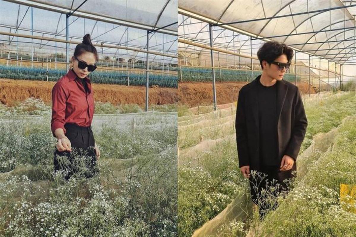 Tuy không chính thức công khai song Ngô Thanh Vân và Huy Trần thường xuyên chia sẻ những bức ảnh về các chuyến đi, địa điểm trùng nhau.