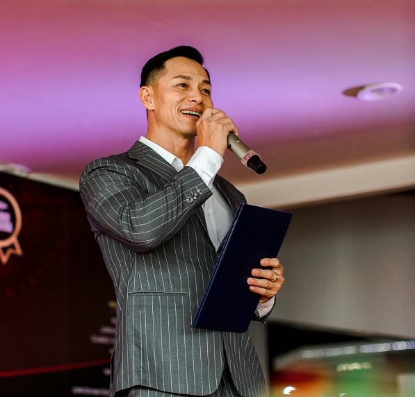 Anh Phạm Hy trong buổi lễ công bố giải đấu thể hình quốc tế PCA Vietnam 2021.