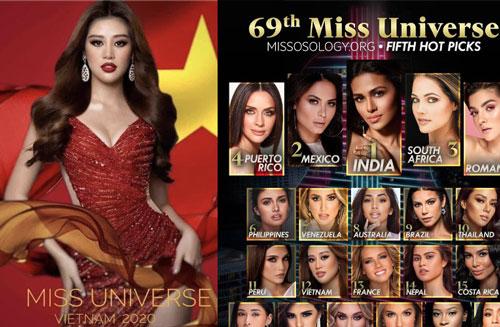 Chưa đầy 1 tuần, Khánh Vân đã tăng vọt 9 bậc lên luôn Top 12 thí sinh hot nhất Miss Universe