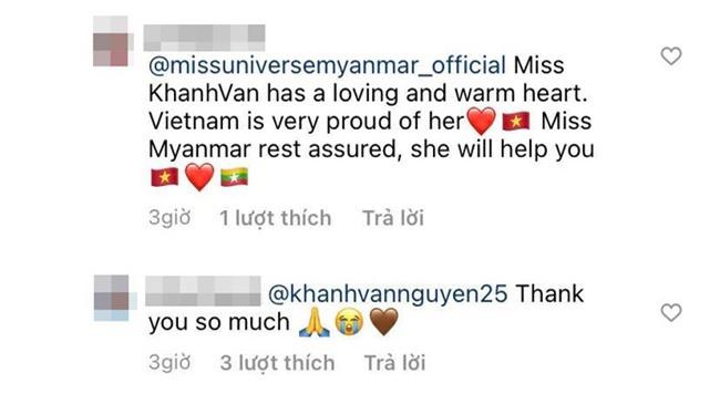 """Khánh Vân được cộng đồng mạng quốc tế khen nức nở vì hành động """"cứu cánh"""" Hoa hậu Myanmar tại Miss Universe 2020 - Ảnh 5."""