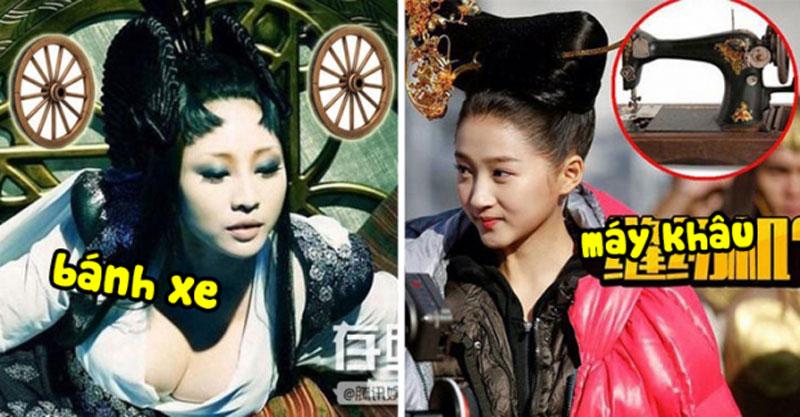 """Dưới đây là một số kiểu tóc """"khó đỡ"""" khiến các sao nữ Hoa ngữ bị dìm trong phim cổ trang."""