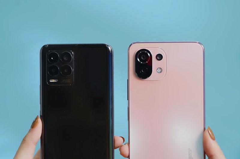 Camera của Realme 8 và Xiaomi Mi 11 Lite 4G (phải).