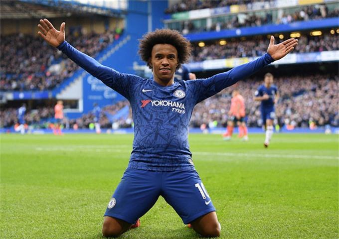 Willian từng vô địch giải Ngoại hạng Anh 2 lần cùng Chelsea