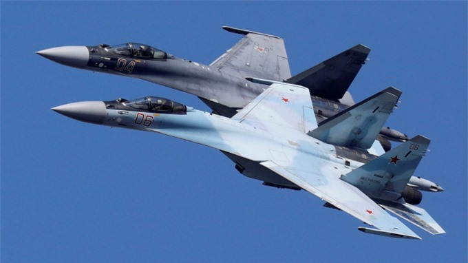 Máy bay chiến đầu Sukhoi Su-35 của Nga. Ảnh: Reuters