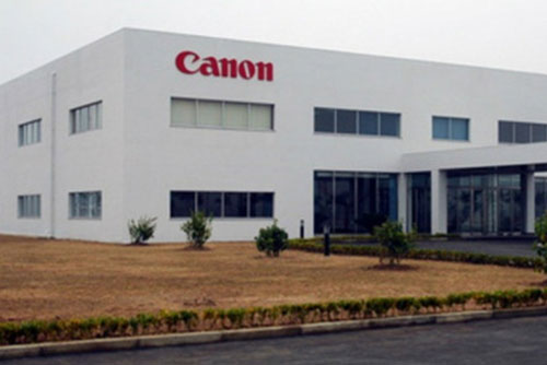 Công ty TNHH Canon Việt Nam tại Khu công nghiệp Quế Võ. Ảnh BĐ.