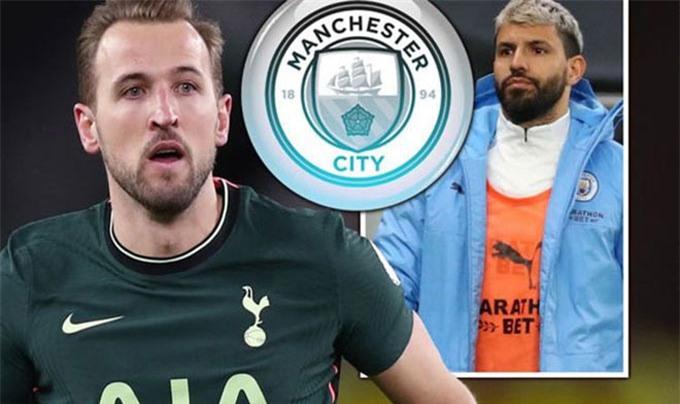 Man City đang nhắm tới Kane để thay Aguero