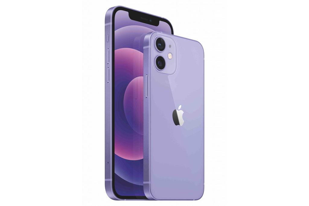 iPhone 12 và iPhone 12 Mini màu tím.