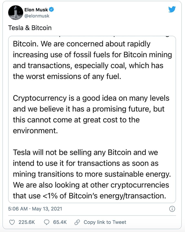 Thông báo của Elon Musk khiến thị trường tiền số chao đảo