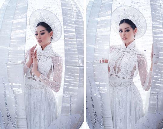 Thần thái sắc sảo, kiêu sa của Khánh Vân trong bộ ảnh trang phục dân tộc ghi điểm lớn trong mắt công chúng.