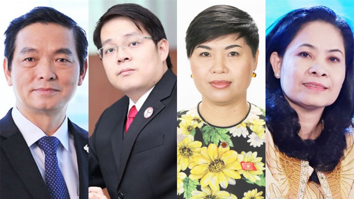 Các ông/bà: Lê Viết Hải, Trịnh Chí Cường, Đỗ Thị Thu Hằng,Ninh Thị Bích Thùy (từ trái qua phải) là 4 trong 30 lãnh đạo doanh nghiệp ứng cử ĐBQH khóa XV.