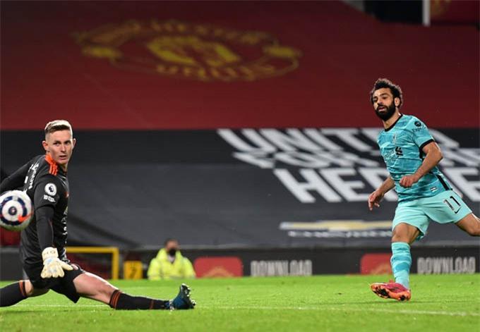 Salah ghi bàn vào lưới MU