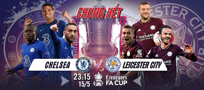 Chelsea và Leicester City sẽ phô diễn hết khả năng để giành cơ hội nâng cúp vô địch danh giá trước 21.000 khán giả trên sân Wembley.