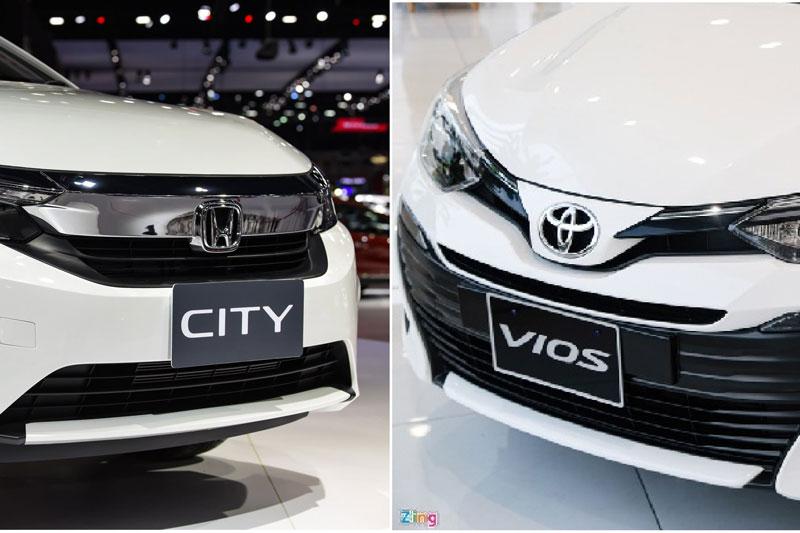 So sánh Honda City E với Toyota Vios E-MT