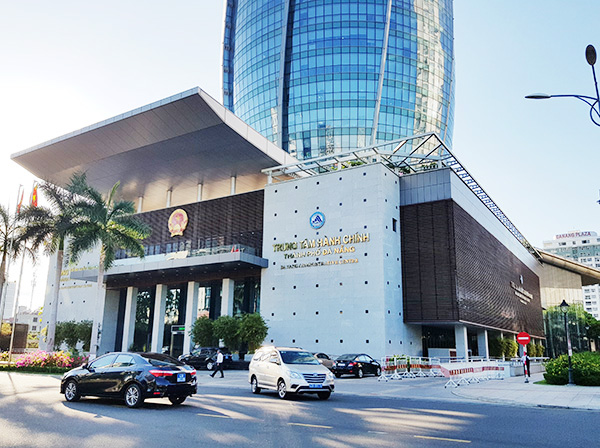 Trung tâm Hành chính TP Đà Nnawngx, nơi có một Giám đốc Sở vừa xác định dương tính với virus SARS-CoV-2