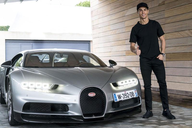 Chiếc Bugatti Chiron mà Ronaldo đang sở hữu.