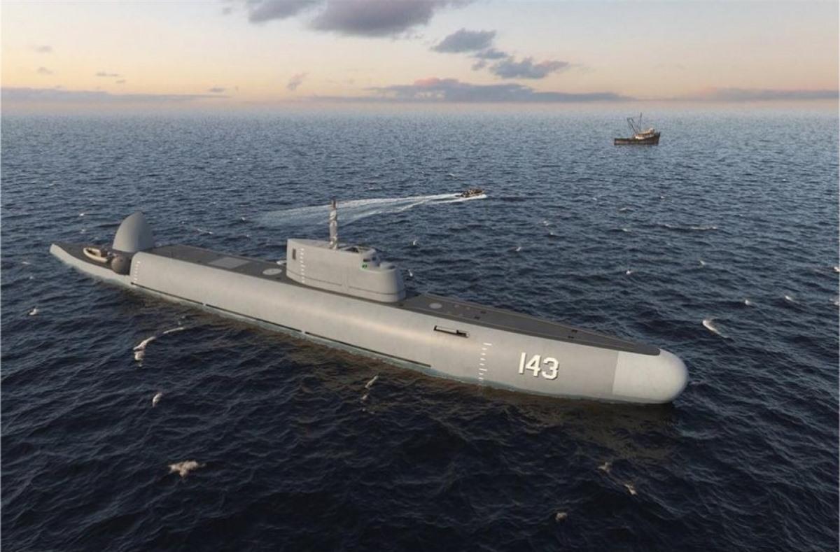 Thiết kế của tàu tuần tra có khả năng lặn dưới nước trong dự án Sentinel. Ảnh: TASS