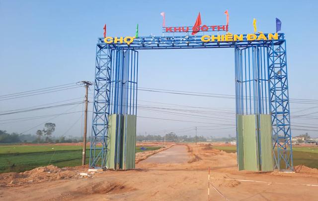 Dự án Khu phố chợ Chiên Đàn tại Quảng Nam chưa hoàn thiện cơ sở hạ tầng đã rao bán trái phép trên mạng xã hội.