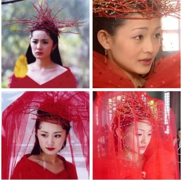 Mũ cổ trang của mỹ nữ Cbiz: Dương Mịch đội tổ chim, Lưu Diệc Phi đội mâm ngũ quả 2
