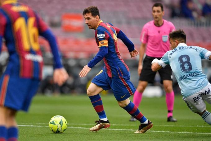 Messi thực hiện 14 lần qua người thành công (tỷ lệ 100%) ở trận đấu với Celta