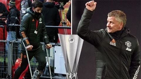 Solskjaer xác nhận Maguire có thể kịp đá chung kết Europa League