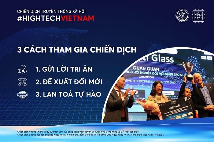 Bộ KH&CN phát động chiến dịch truyền thông xã hội Hightech Vietnam.