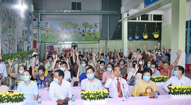 Tất cả cử tri nơi cư trú ủng hộ doanh nhân Nguyễn Đặng Hiến.