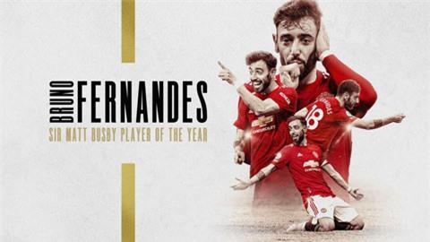 Bruno Fernandes xuất sắc nhất MU mùa thứ 2 liên tiếp