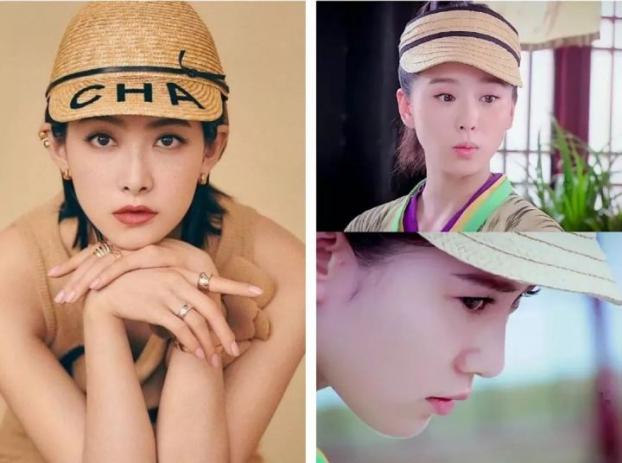 Lưu Thi Thi trong phim cổ trang đội một chiếc mũ sành điệu như mũ lưỡi trai hiện đại.