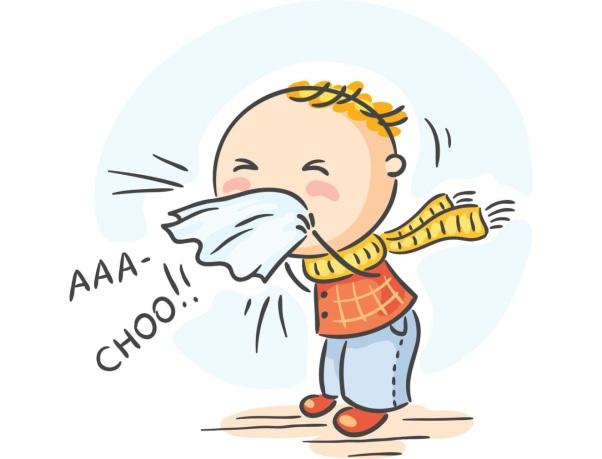 Trẻ bị viêm mũi họng thường hắt hơi, sổ mũi, ho khan,...