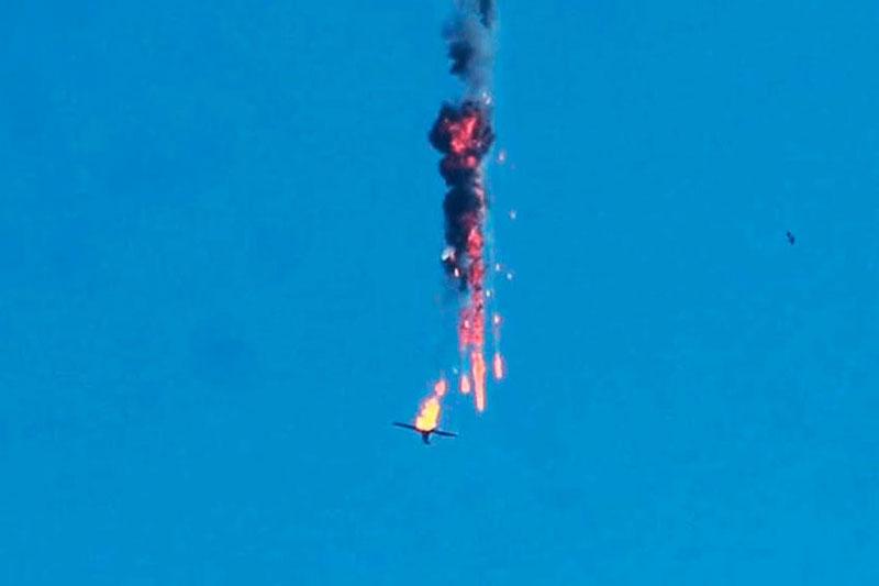 Một chiếc UAV bị bắn hạ.