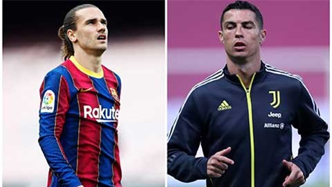 Juventus có thể thay Ronaldo bằng Griezmann