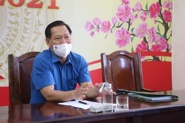 Phó Chủ tịch UBND tỉnh An Giang Trần Anh Thư chủ trì buổi làm việc với báo chí.