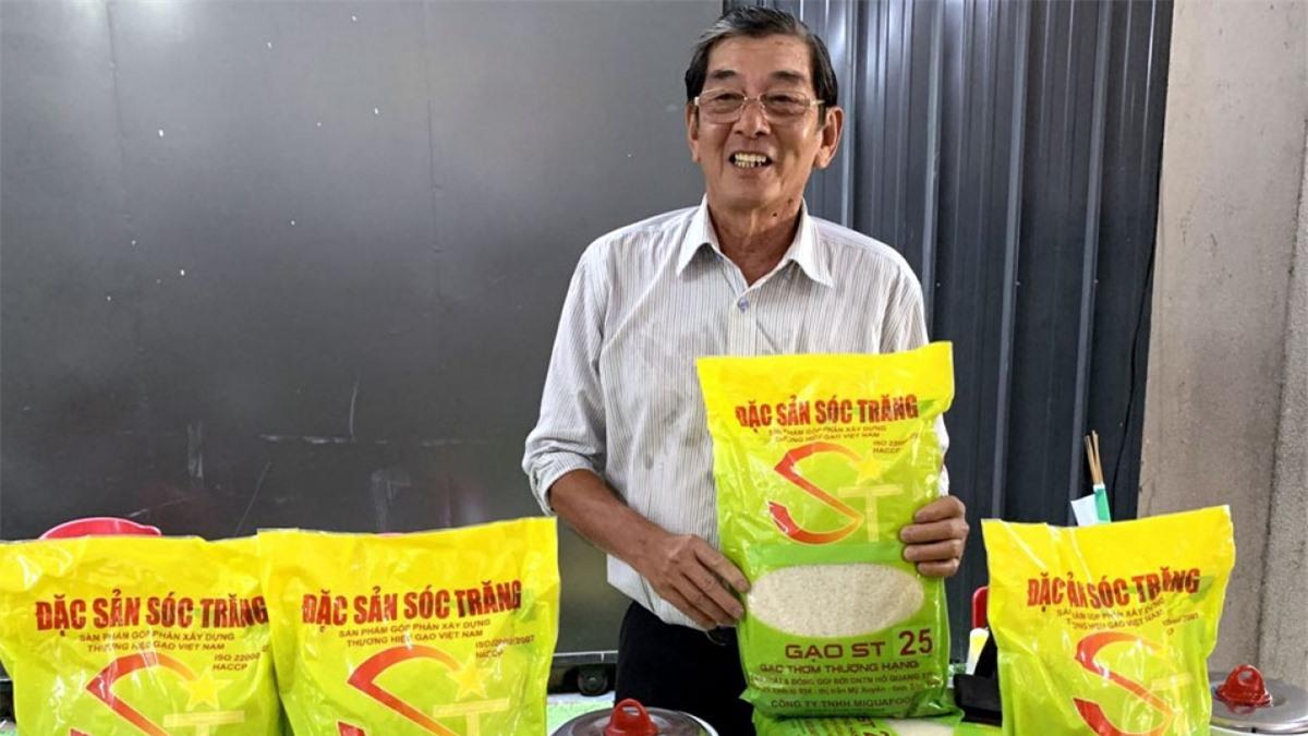 Kỹ sư Hồ Quang Cua, cha đẻ của giống gạo ST25. Ảnh: Báo Lao động