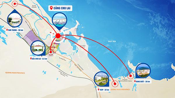 Cảng Chu Lao có vị trí thuận lợi, kết nối với các khu vực công nghiệp và các vùng miền