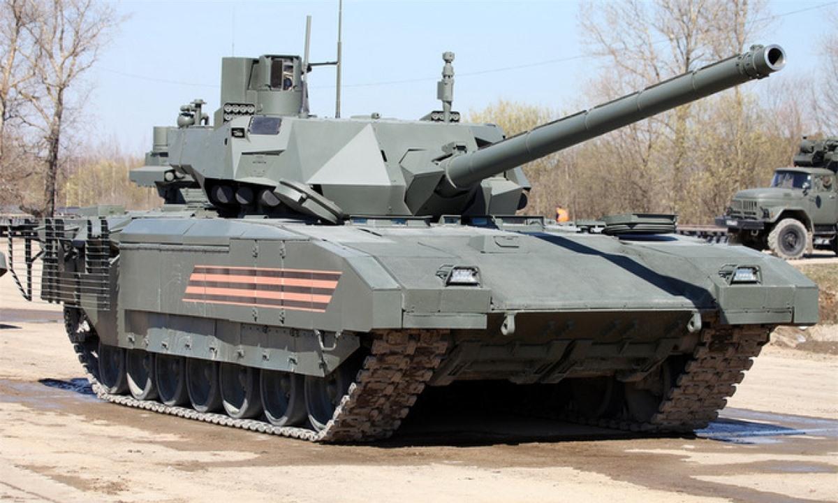 Xe tăng T-14 Armata tập duyệt binh ở ngoại ô Moskva hồi tháng 4/2019. Ảnh: Vitaly Kuzmin.