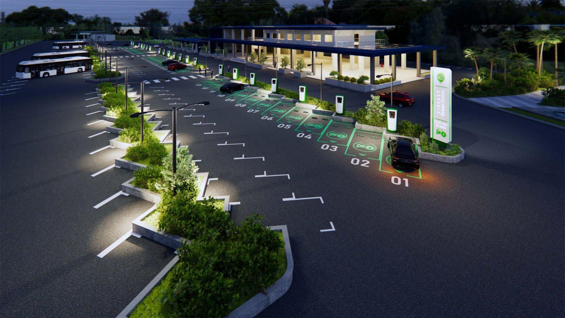 Trạm sạc xe điện của VinFast tại Đồng Nai