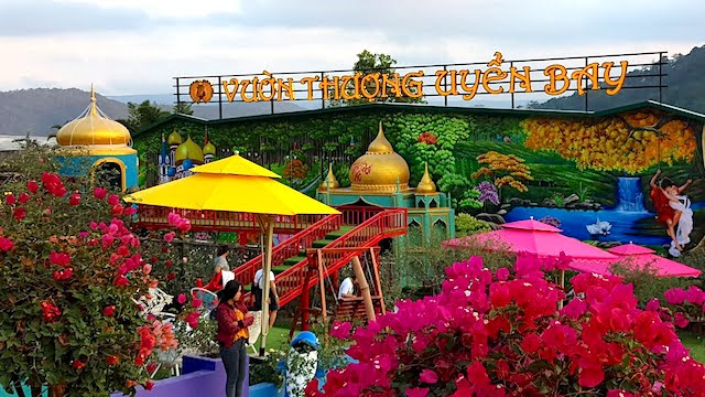 """Khu du lịch """"Vườn thượng uyển bay"""" trên đèo Mimoza, thuộc phường 10, TP Đà Lạt không được cấp giấy phép xây dựng."""