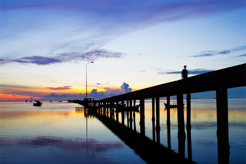 Cầu cảng Hàm Ninh. Ảnh: Salindaresort.