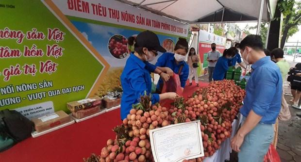 Khởi động các điểm kết nối tiêu thụ nông sản tại Hà Nội giữa đại dịch Covid-19.
