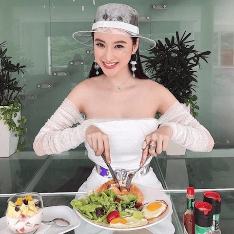 Angela Phương Trinh luôn tuân thủ nguyên tắc ăn chay của bản thân đặt ra.