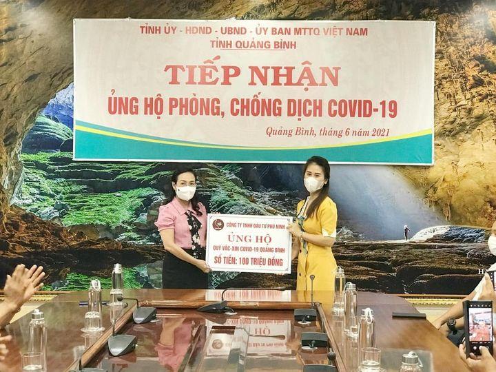 Công Ty Phú Ninh Quảng Bình ủng hộ Quỹ Phòng chống dịch Covid 19