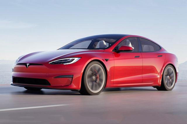 2. Tesla Model S Plaid (vận tốc tốc đa: 322 km/h).