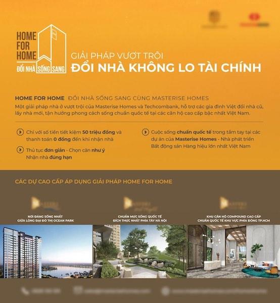 Nội dung về cách thức tham gia và 3 dự án cao cấp được áp dụng giải pháp Home for Home.