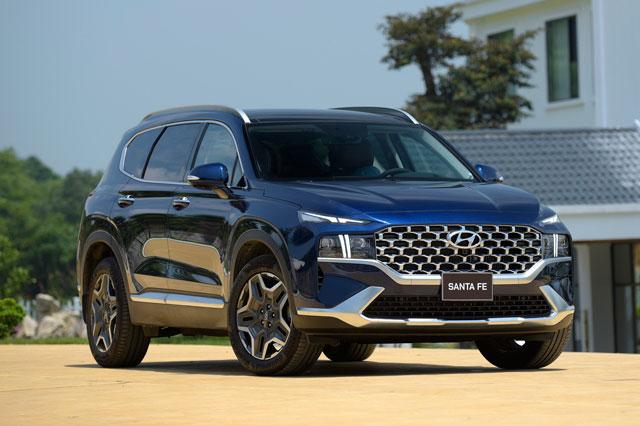 5. Hyundai Santa Fe (doanh số: 1.288 chiếc). Ảnh: TC Motor.